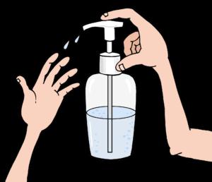χέρια που χρησιμοποιούν αντισηπτικό Gel