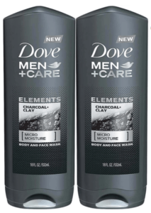 dove men + care body & face wash charcoal