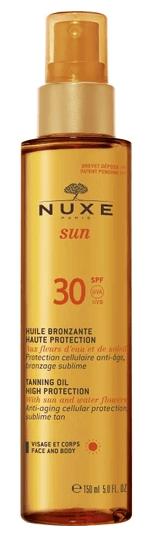 nuxe sun huile bronzante