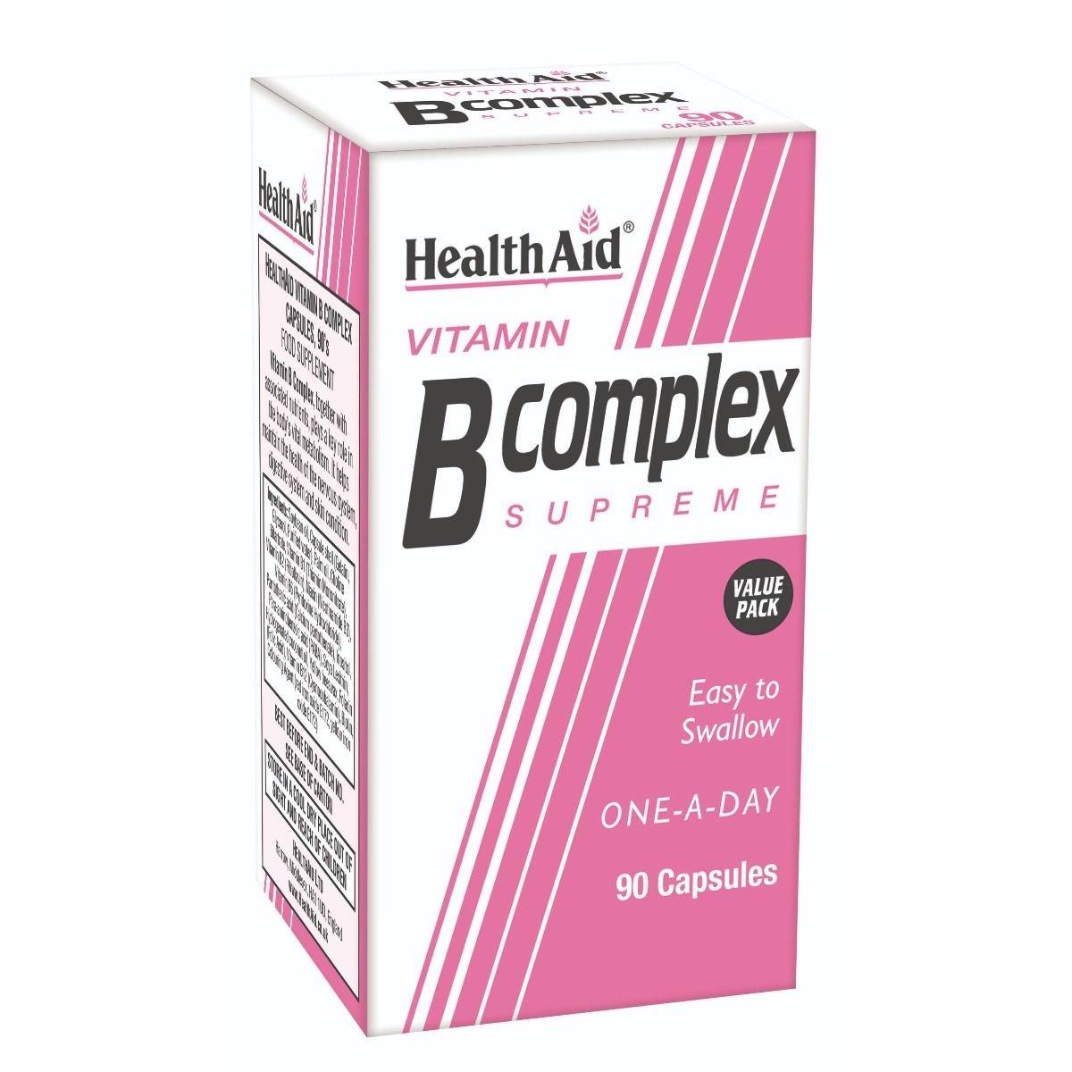 Health Aid Vitamin B Complex Σύμπλεγμα Βιταμινών Β, 90caps