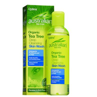 Optima Australian Organic Tea Tree Deep Cleansing Skin Wash Παρέχει Βαθύ Καθαρισμό Και Αντισηπτική Προστασία 250ml
