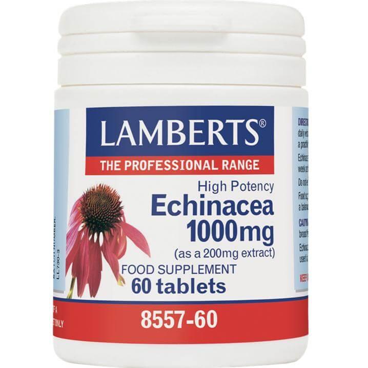 Lamberts Echinacea Συμπλήρωμα Διατροφής με Εχινάκεια 1000mg 60tabs