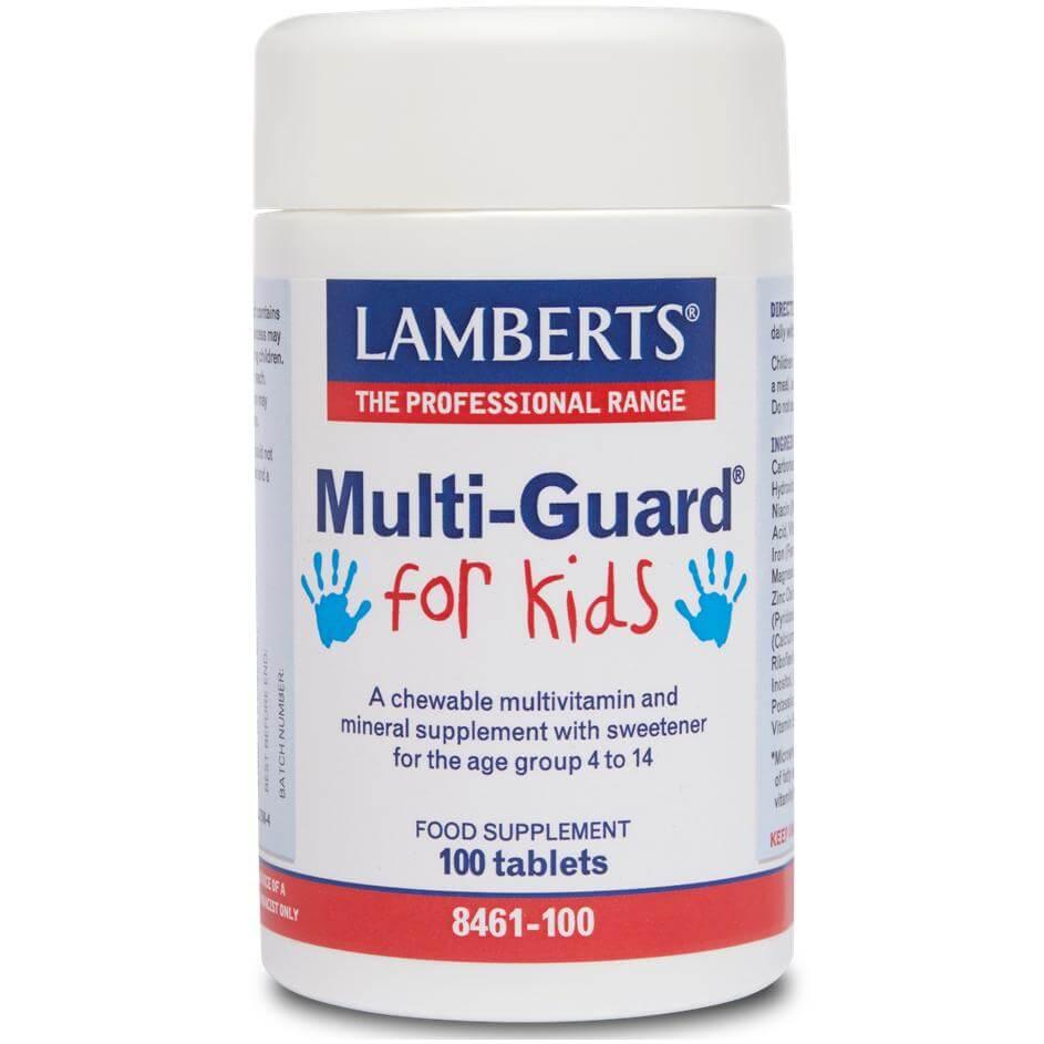Lamberts Multi-Guard For Kids (formerly Playfair)Μασώμενη Πολυβιταμίνη για Πιαδιά Χωρίς Ζάχαρη – 30 tabs