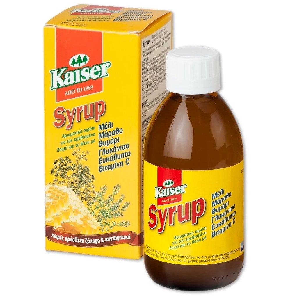 Kaiser Syrup Cherry Αρωματικό Σιρόπι για τον Ερεθισμένο Λαιμό & το Βήχα 200ml