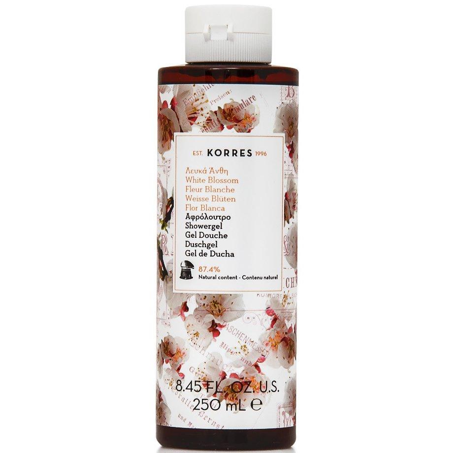 Korres ShowergelWhite Blossom Αφρόλουτρο Λευκά Άνθη με Άρωμα Πούδρας 250ml