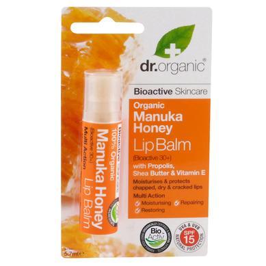 Dr Organic Organic Manuka Honey Lip Balm Χειλιών με Βιολογικό Μέλι Μανούκα 5.7ml