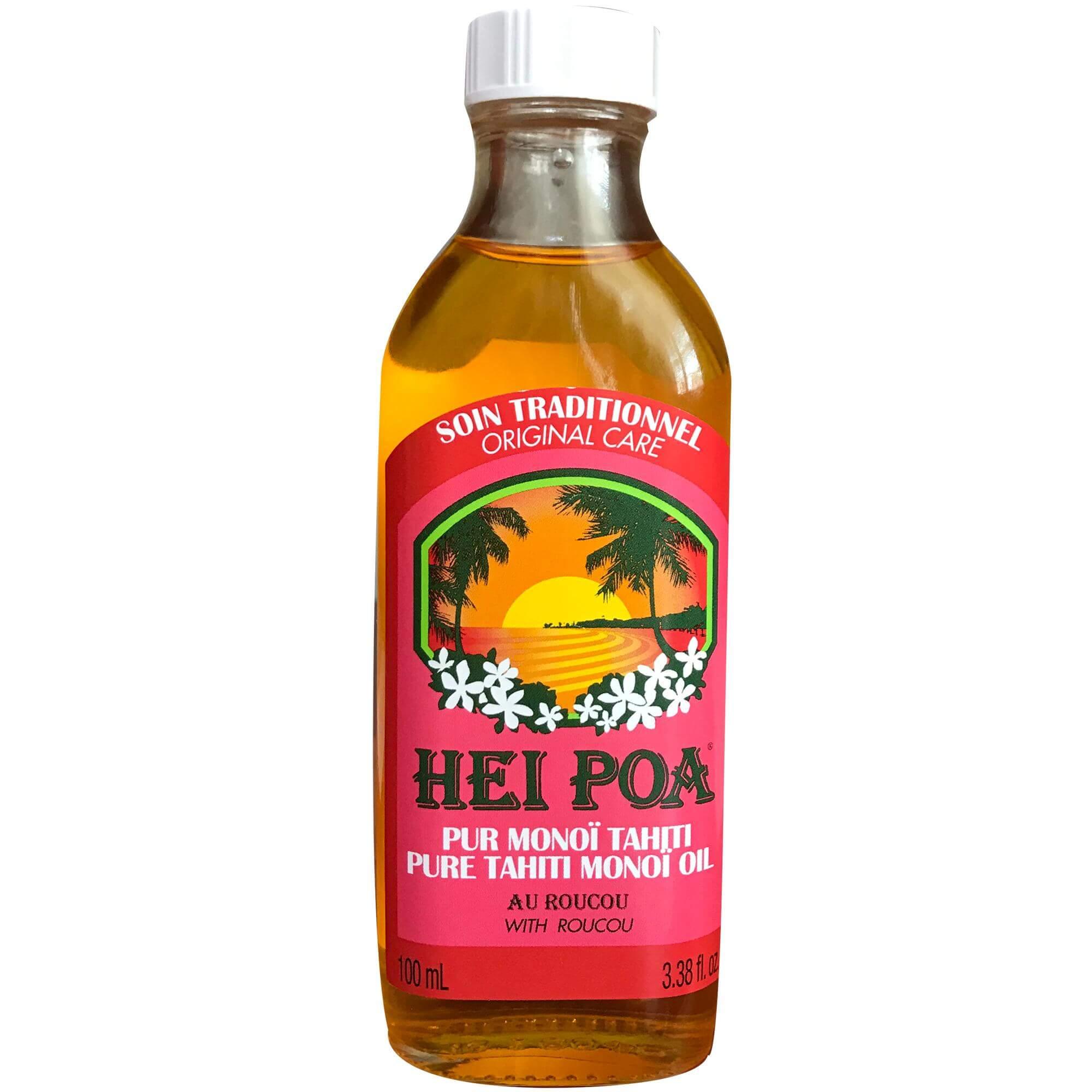 Hei Poa Pure Tahiti Monoi Oil Roucou Προσδίδει Μια Διακριτική, Χάλκινη Απόχρωση 100ml
