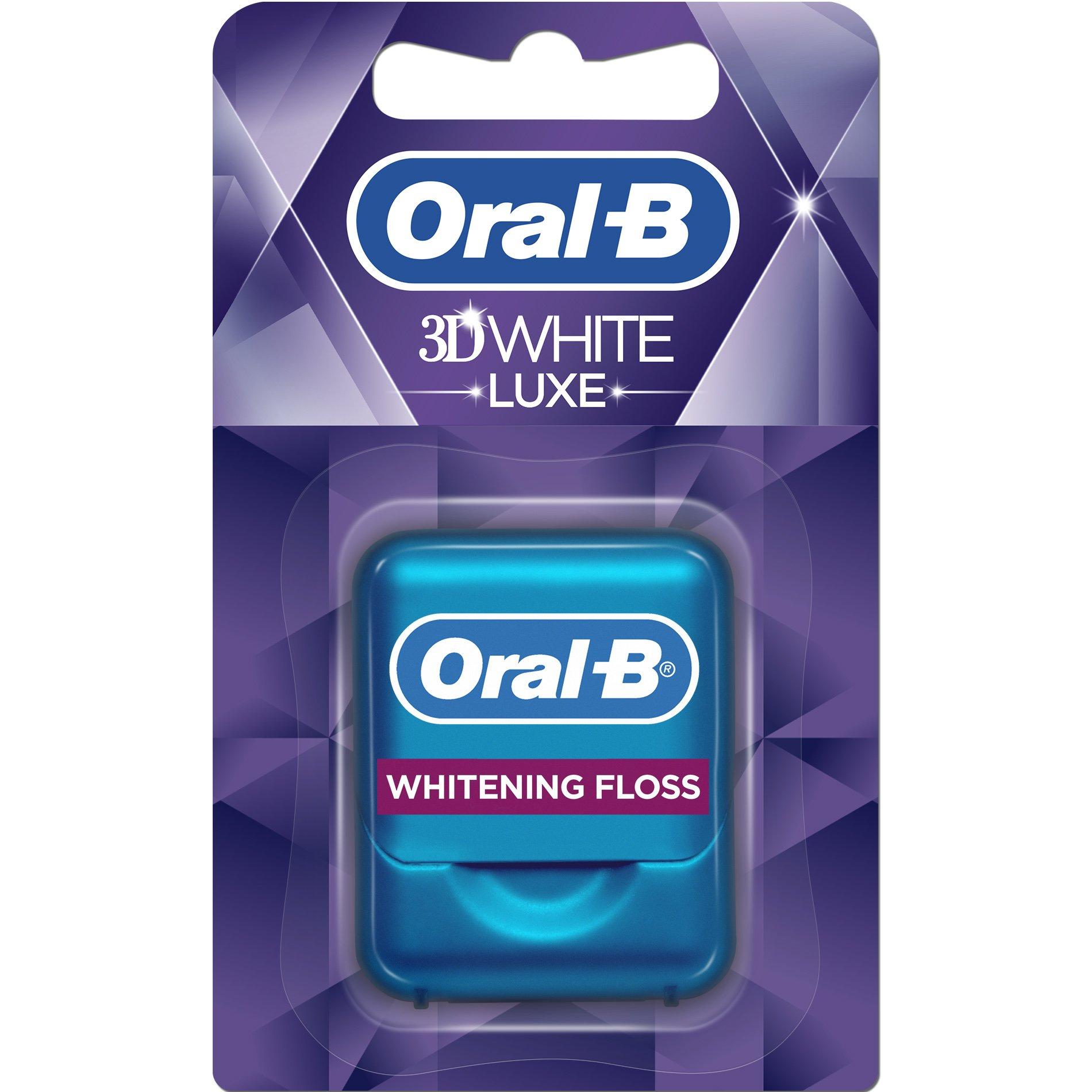 Oral-B 3D White Luxe Οδοντικό Νήμα για την Πρόληψη Λεκέδων 35m