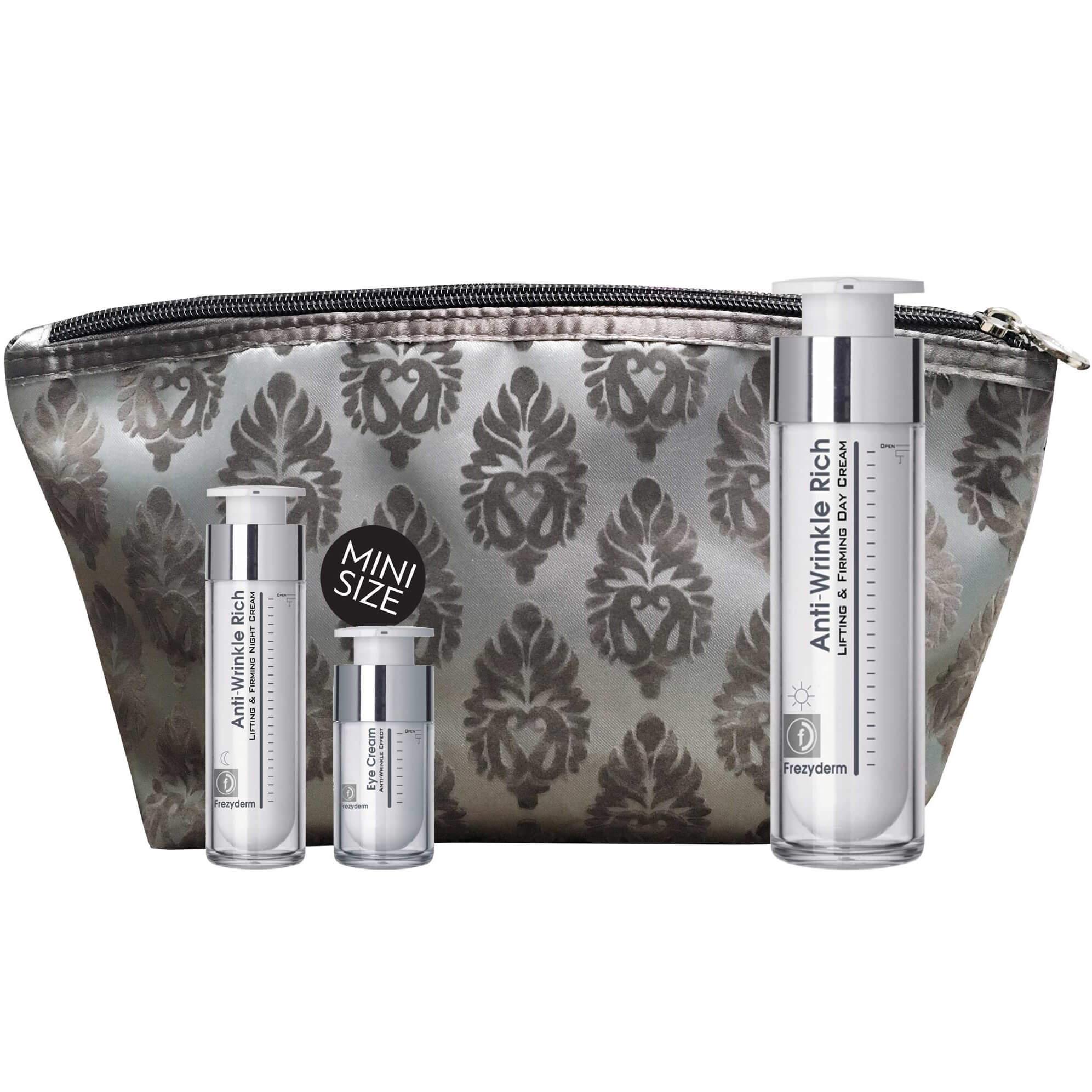 Frezyderm Πακέτο Προσφοράς Anti-Wrinkle Rich Day Cream 50ml & Δώρο Anti-Wrinkle Rich Night Cream 15ml & Eye Cream 5ml & Νεσεσέρ