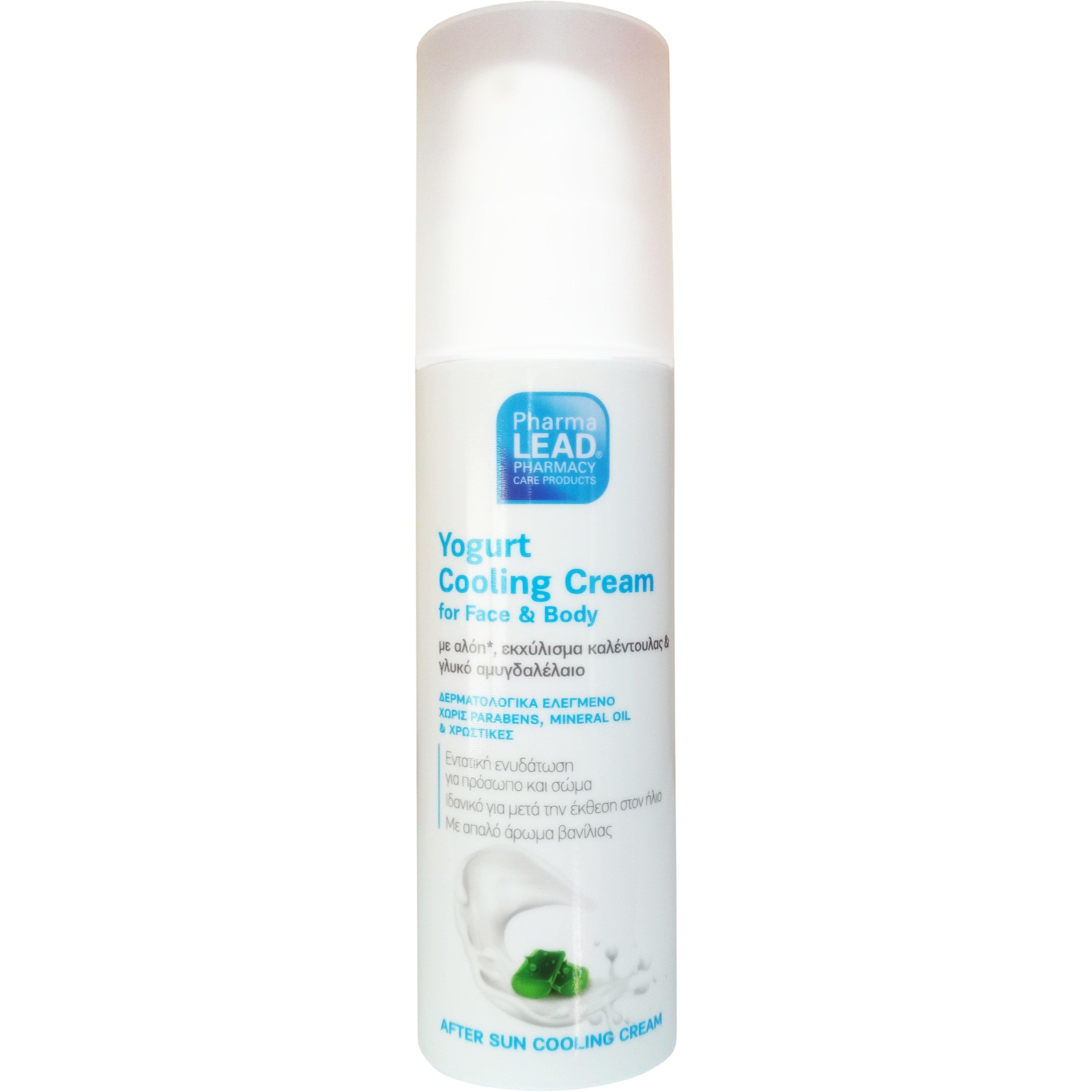 Pharmalead Yogurt Cooling Cream for Face & Body Δροσιστική Κρέμα για Εντατική Ενυδάτωση Προσώπου Σώματος 150ml