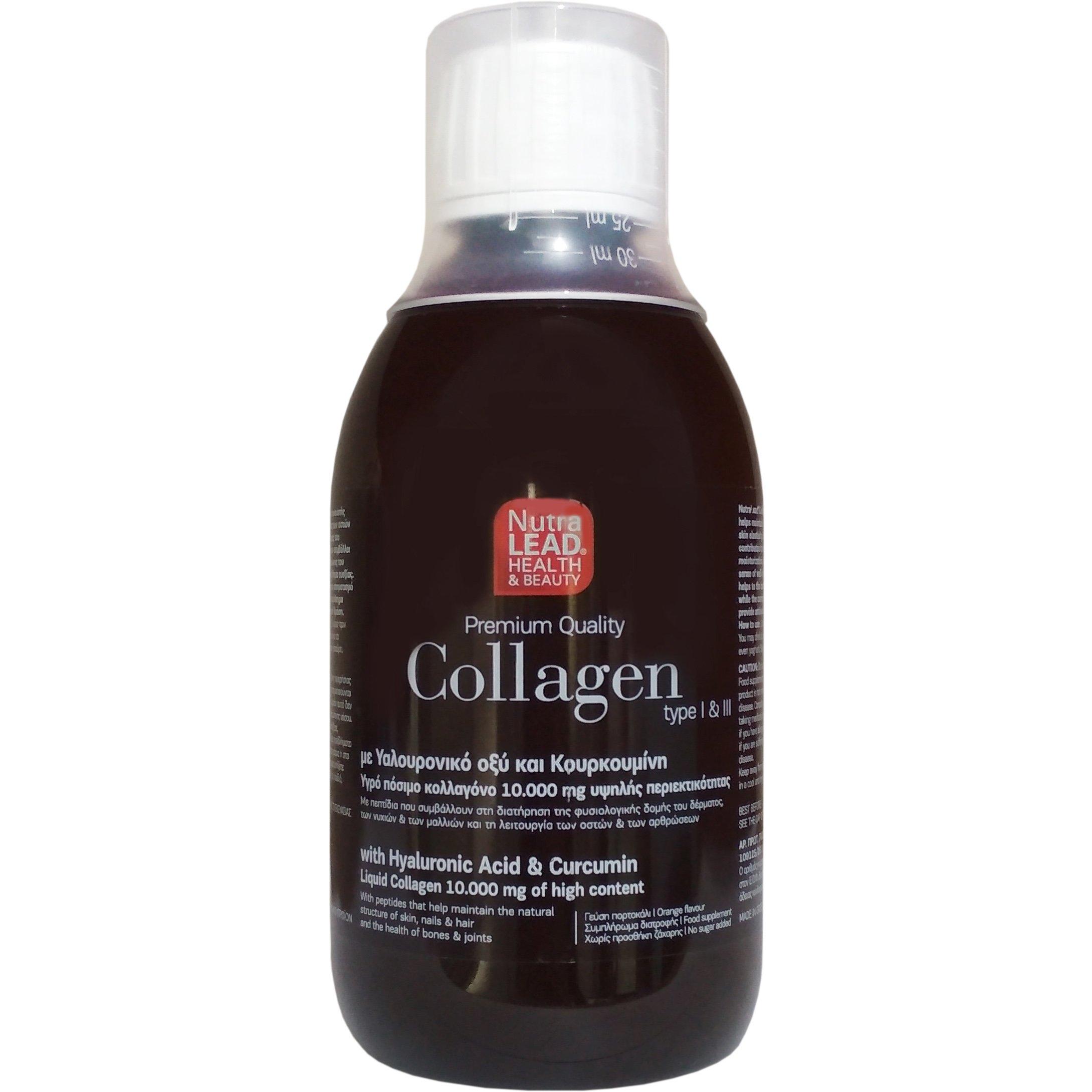 Nutralead Collagen Πόσιμο Κολλαγόνο Με Ρόδι, Ενισχυμένο με Υαλουρονικό Οξύ & Κουρκουμίνη 300ml