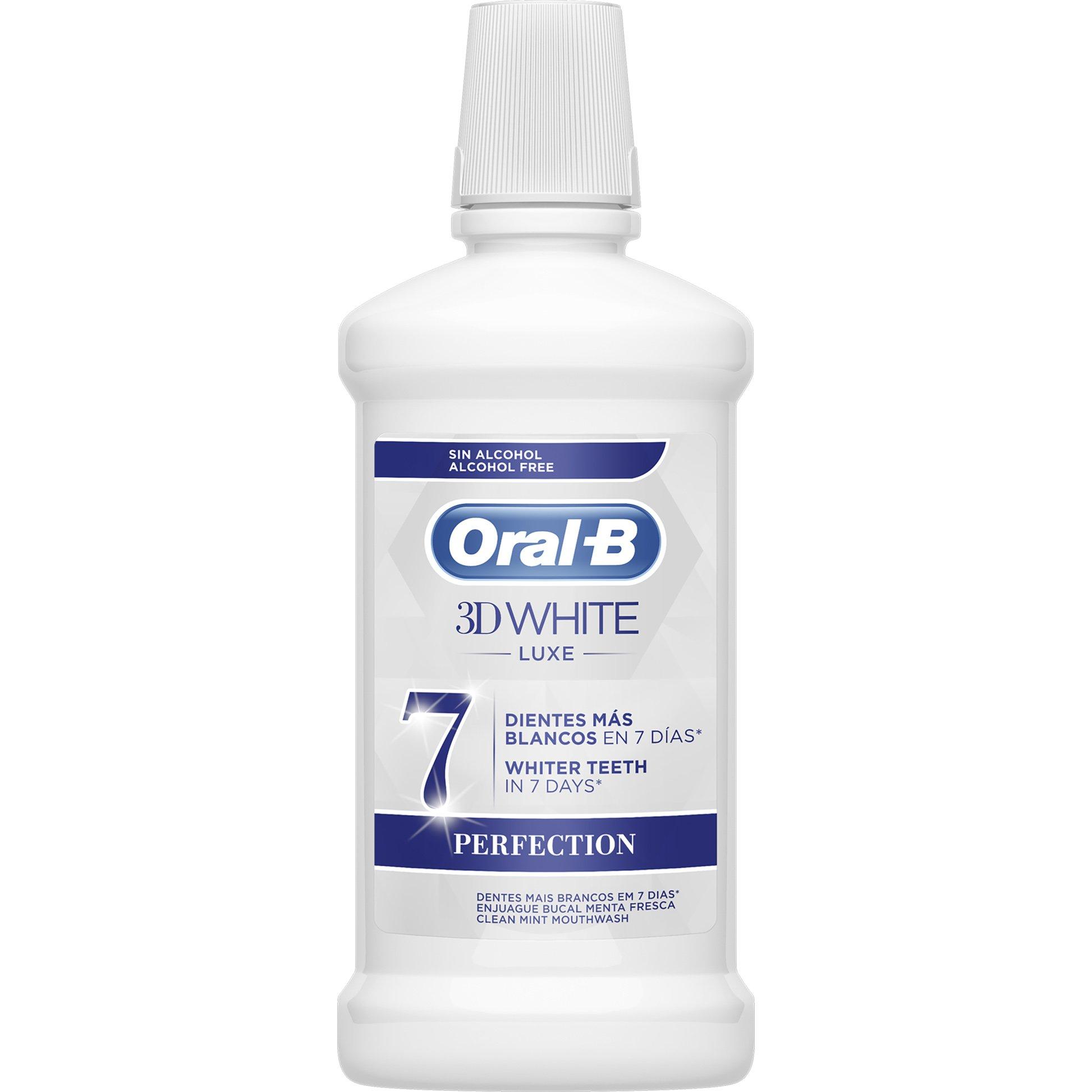 3D White Luxe 500ml – Oral-B,Στοματικό Διάλυμα για πιο Λευκά Δόντια με Άρωμα Μέντας
