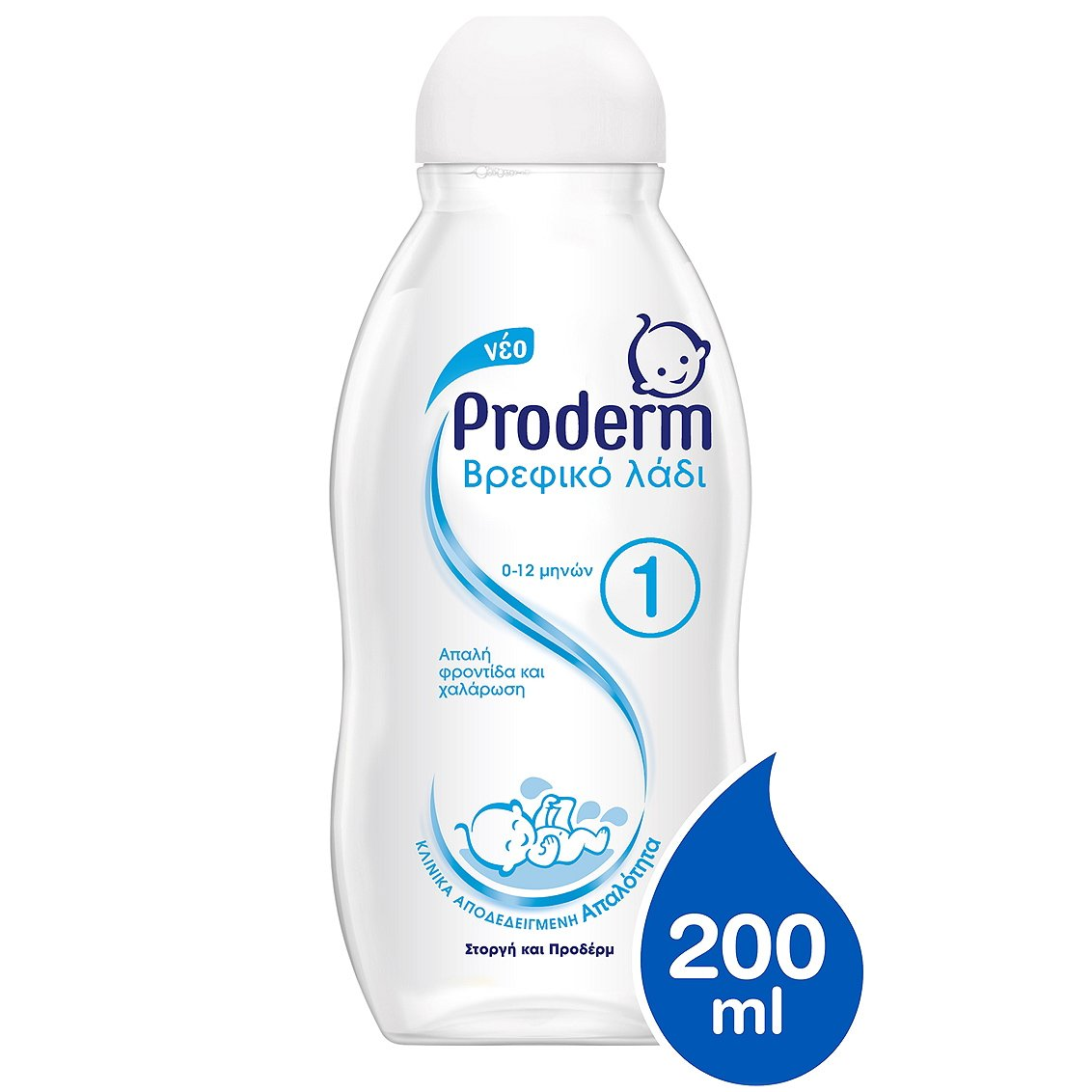 Proderm Απαλό Βρεφικό Λάδι 0-12 Μηνών 200ml