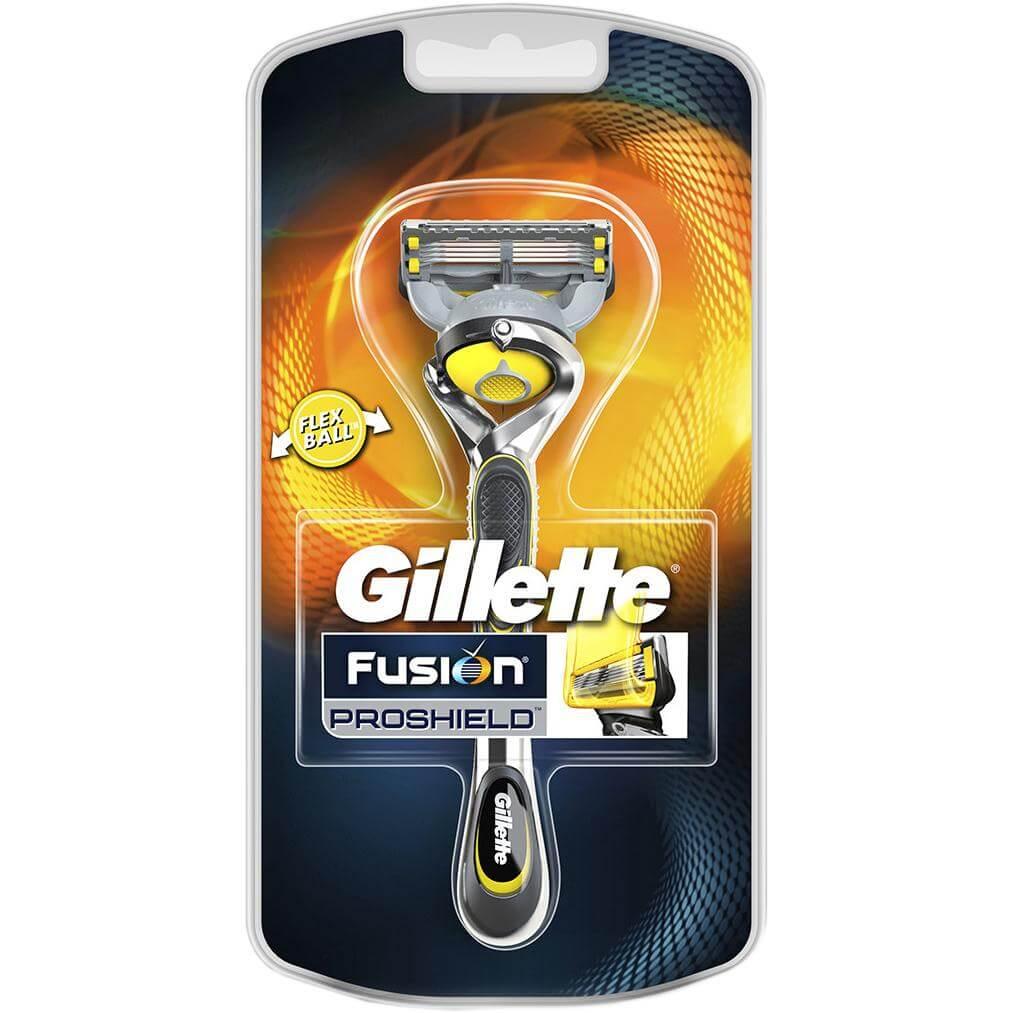 Gillette Fusion Proshield Ξυριστική Μηχανή με Κεφαλή 5 Λεπίδων & Λιπαντικές Ταινίες Πριν & Μετά Τις Λεπίδες 1 τεμάχιο