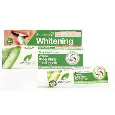 Dr Organic Organic Aloe Vera Toothpaste (Whitening) Οδοντόκρεμα με Βιολογική Αλόη Βέρα 100ml