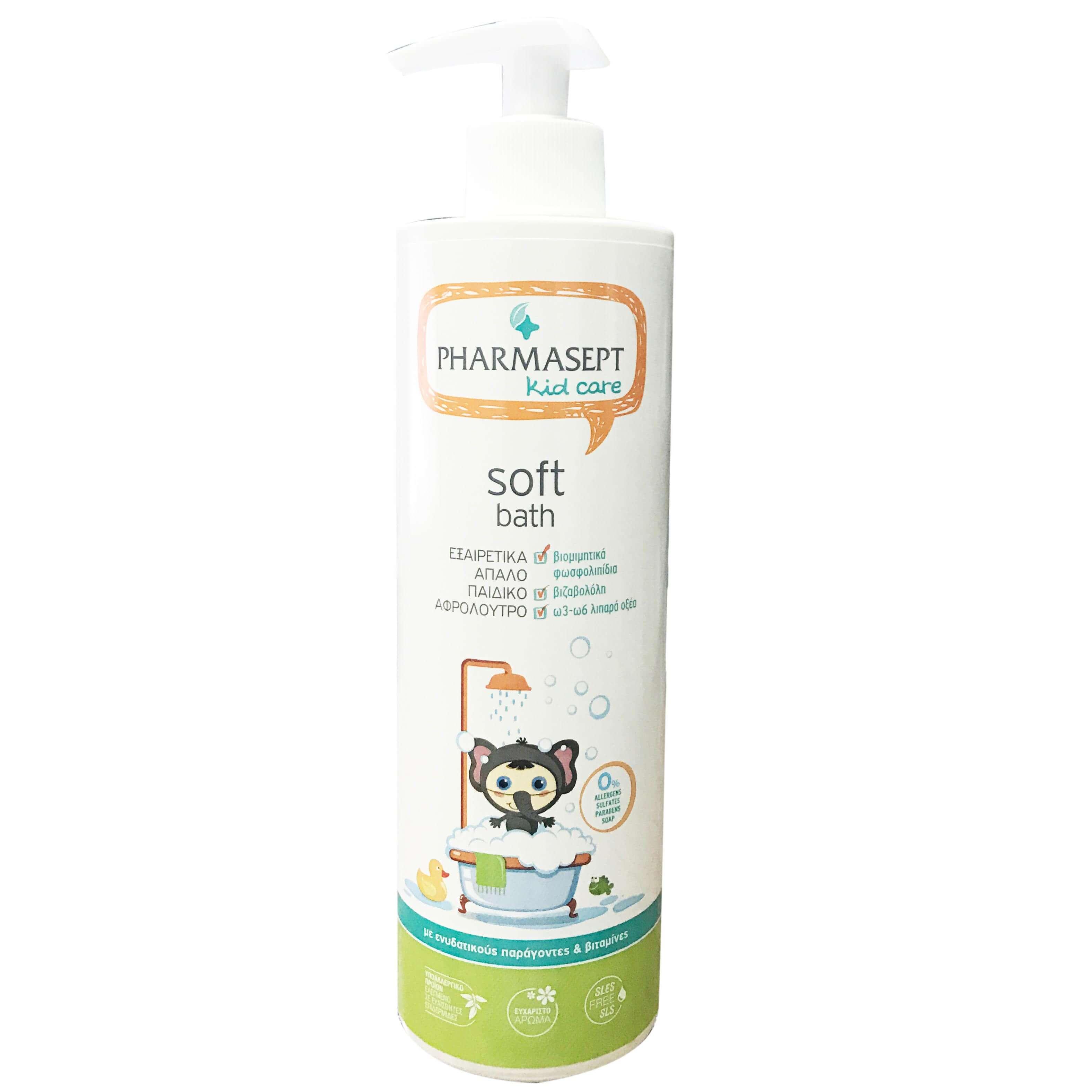 Pharmasept Kid Care Soft Bath Απαλό Υποαλλεργικό Αφρόλουτρο για την Ευαίσθητη Παιδική Επιδερμίδα500ml
