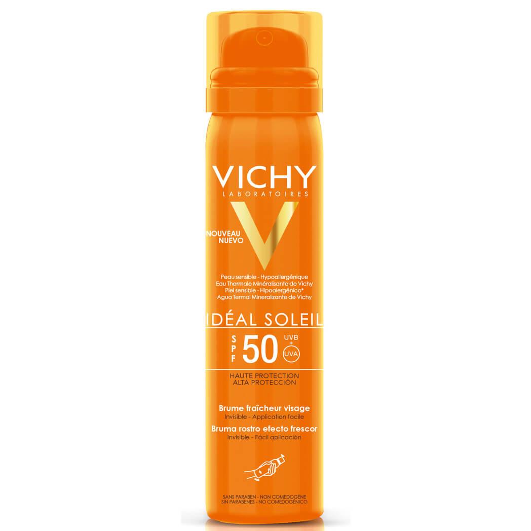 Vichy Ideal Soleil Brume Fraicheur Visage Spf50 Δροσερό Mist Προσώπου Υψηλής Αντηλιακής Προστασίας 75ml