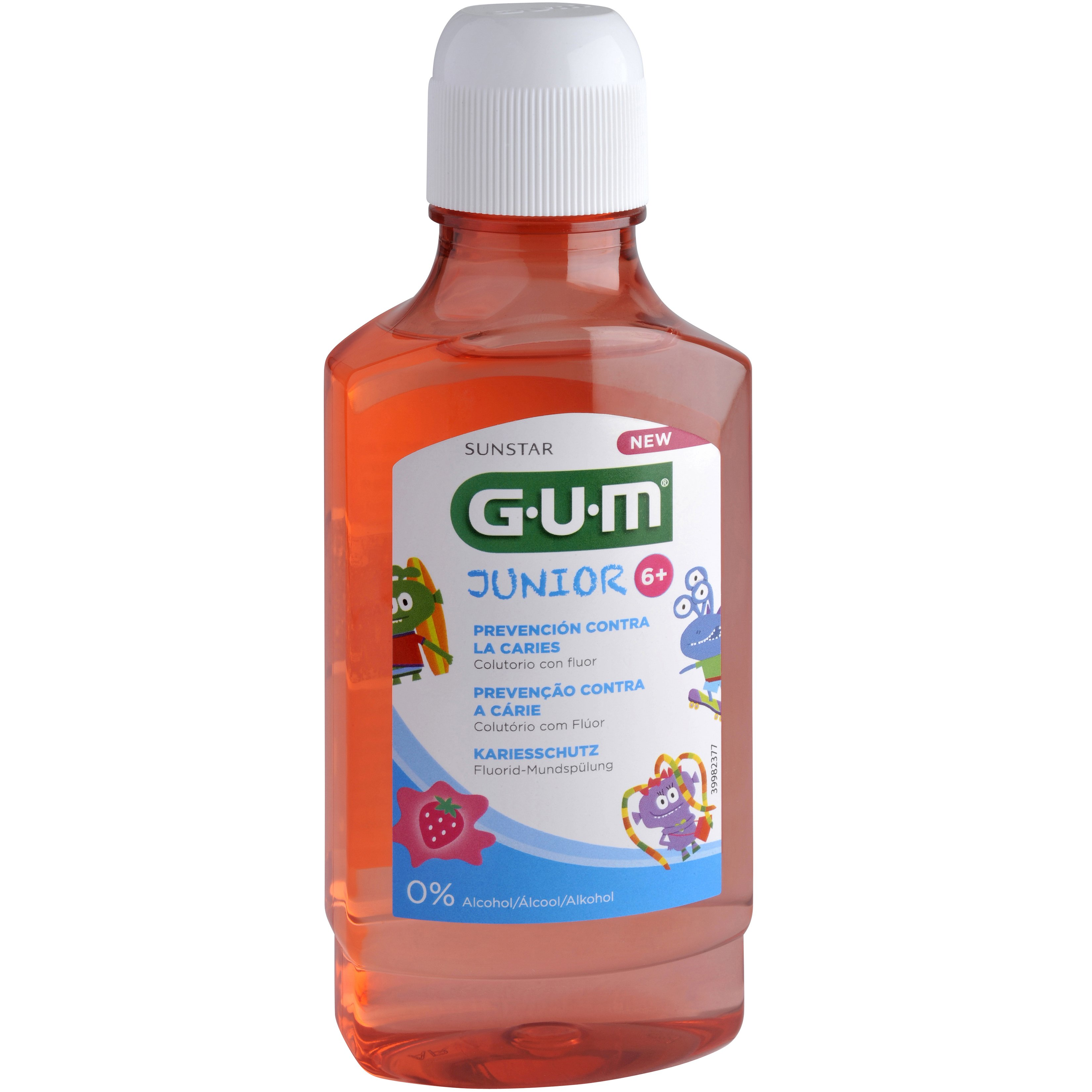 Gum Junior 6+ Cavities Prevention Fluoride Mouthrinse 3022 Παιδικό Στοματικό Διάλυμα Κατά της Τερηδόνας με Γεύση Φράουλα 300ml
