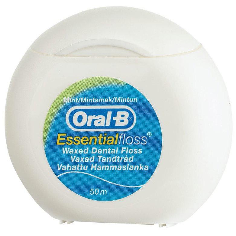 Oral-B Essential Floss Κηρωμένο Οδοντικό Νήμα με Γεύση Μέντας 50m