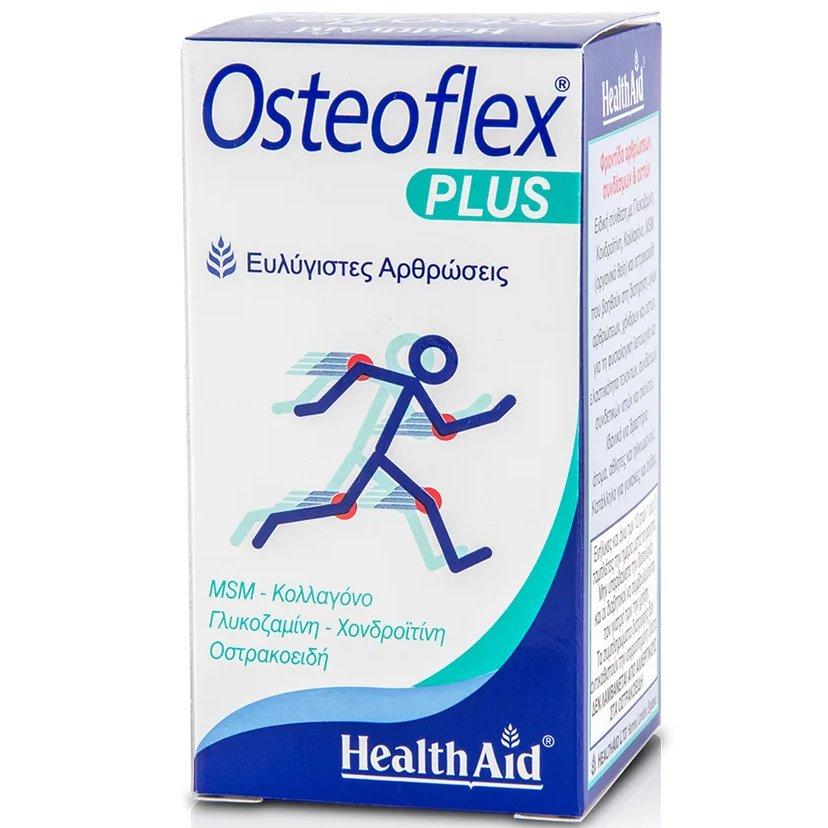 Health Aid Osteoflex Plus Γλυκοσαμίνη Χονδροϊτίνη MSM Κολλαγόνο 60 Ταμπλέτες
