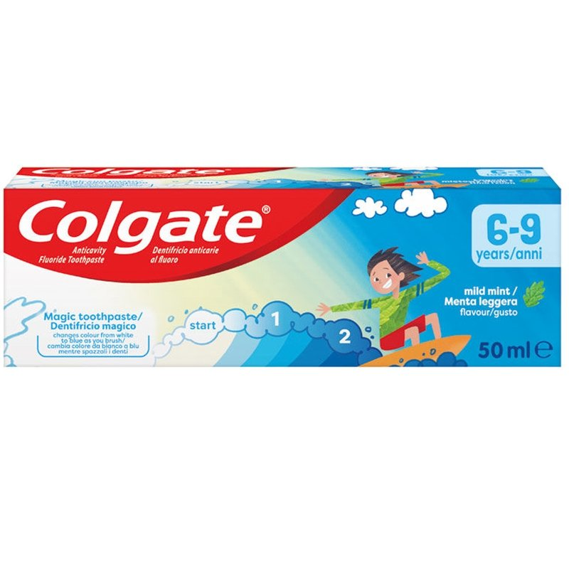 Colgate Kids Παιδική Οδοντόκρεμα με Γεύση Μέντας 6-9 Ετών 50ml