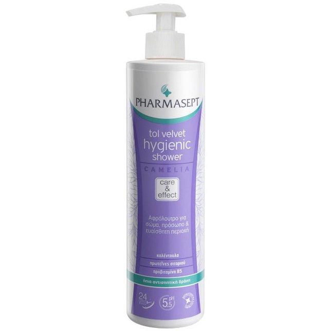Pharmasept Tol Velvet Hygienic Shower Camelia Υγρό Υγιεινού Καθαρισμού Χωρίς Αλκάλια & Σαπούνι 500ml