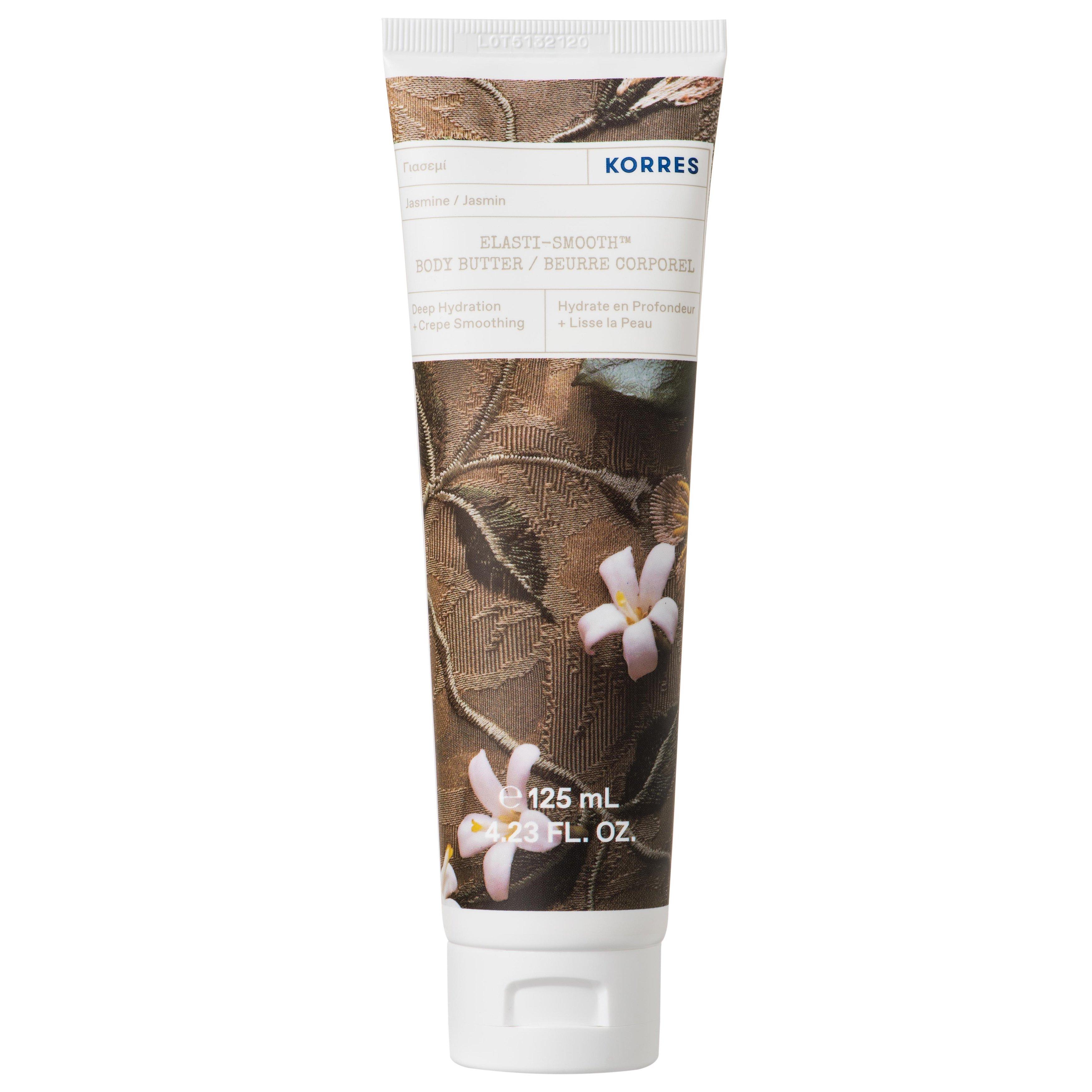 Korres Jasmine Elasti-Smooth Body Butter Πλούσιο Κρεμώδες Γαλάκτωμα Σώματος με Φρέσκο Άρωμα Γιασεμί 125ml