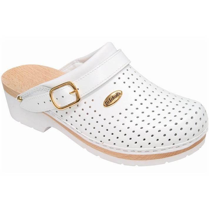 Dr Scholl Shoes Σαμπό Λευκό Ξύλινα Γυναικεία Αναπαυτικά Παπούτσια που Χαρίζουν Σωστή Στάση & Φυσικό Χωρίς Πόνο Βάδισμα 1 Ζευγάρι – 43