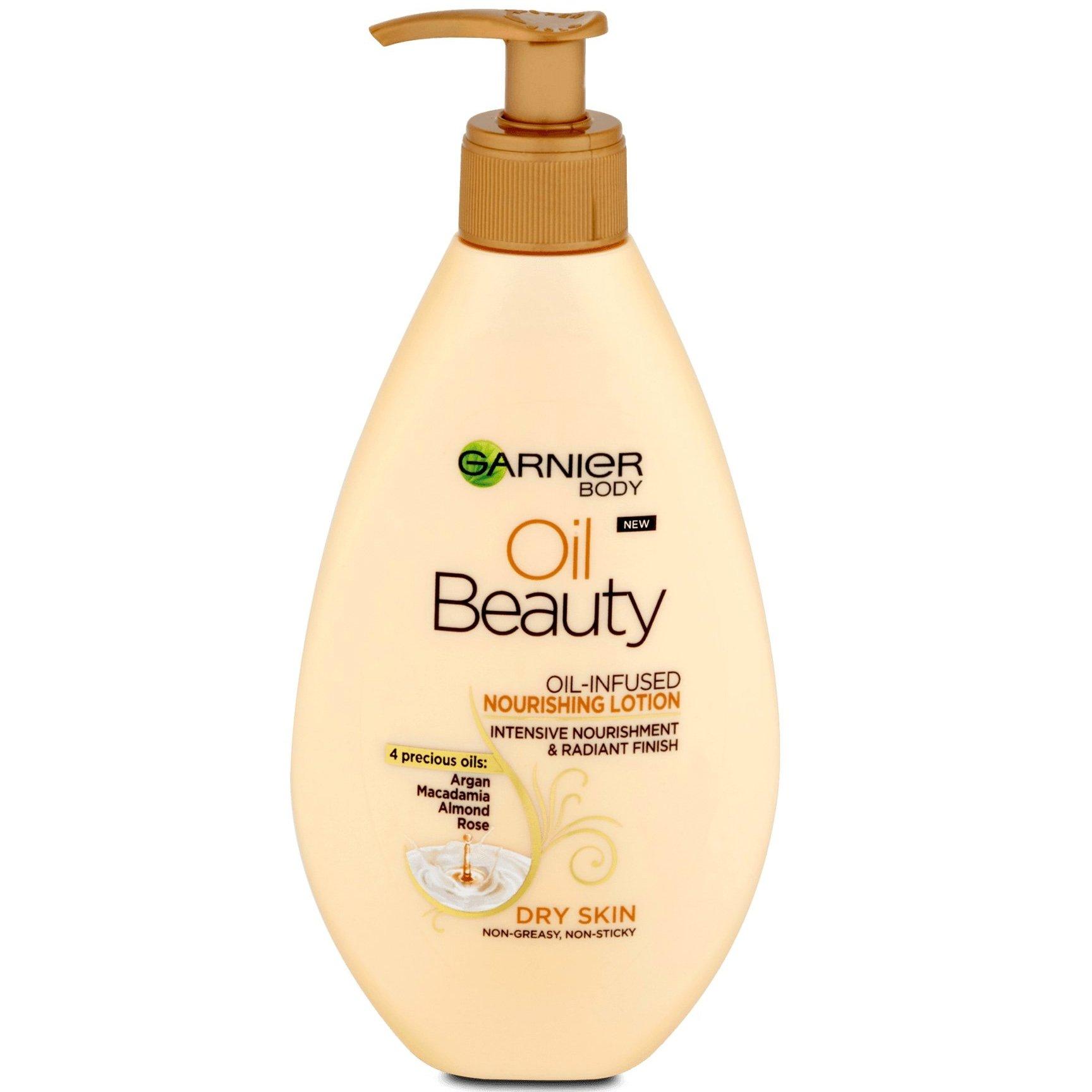 Garnier Body Oil BeautyΘρεπτική Λοσιόν Σώματος με 4 Πολύτιμα Έλαια 250ml