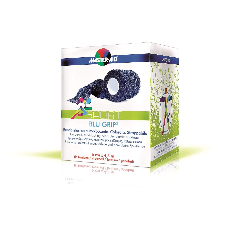 Sport Blu Grip Αυτοκόλλητος Ελαστικός Επίδεσμος 6cm x 4,5m