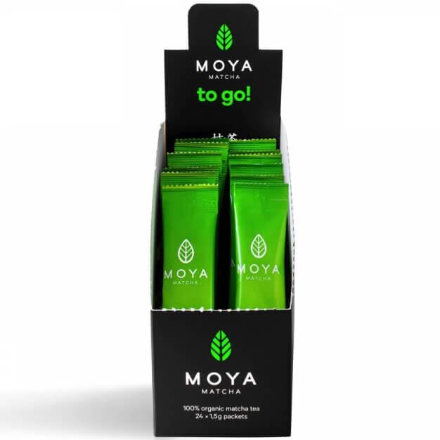 Moya Matcha Daily Matcha to Go!Οργανικό Γιαπωνέζικο Πράσινο Τσάι σε Stick12x1, φαρμακείο   φυσικά προϊόντα   τσάι