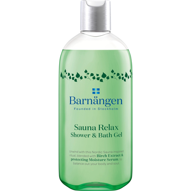 Barnangen Shower & Bath Gel Sauna Relax Χαλαρωτικό Αφροντούς με Εκχυλίσματα Σημύδας & Ενυδατικό Ορό Προστασίας 400ml