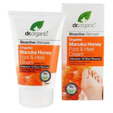 Dr Organic Organic Manuka Honey Foot and Heel Cream Κρέμα Ποδιών και Πελμάτων με Βιολογικό Μέλι Μανούκα 125ml