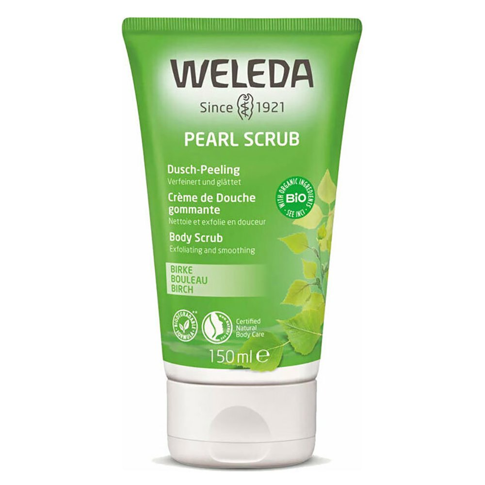 Weleda Shower Body Scrub Αναζωογονητικό Αφρόλουτρο & Peeling με Σημύδα που Τονώνει την Επιδερμίδα 150ml