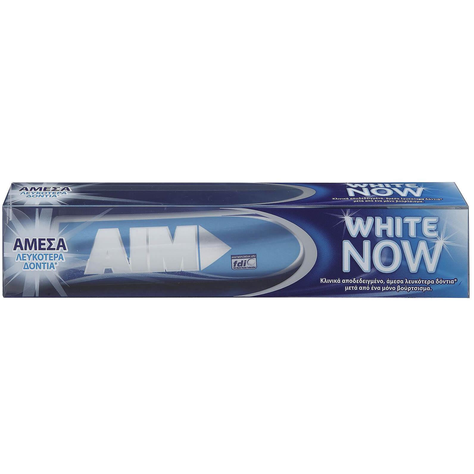 AIM White Now Οδοντόκρεμα για Άμεσα Λευκότερα Δόντια 75ml