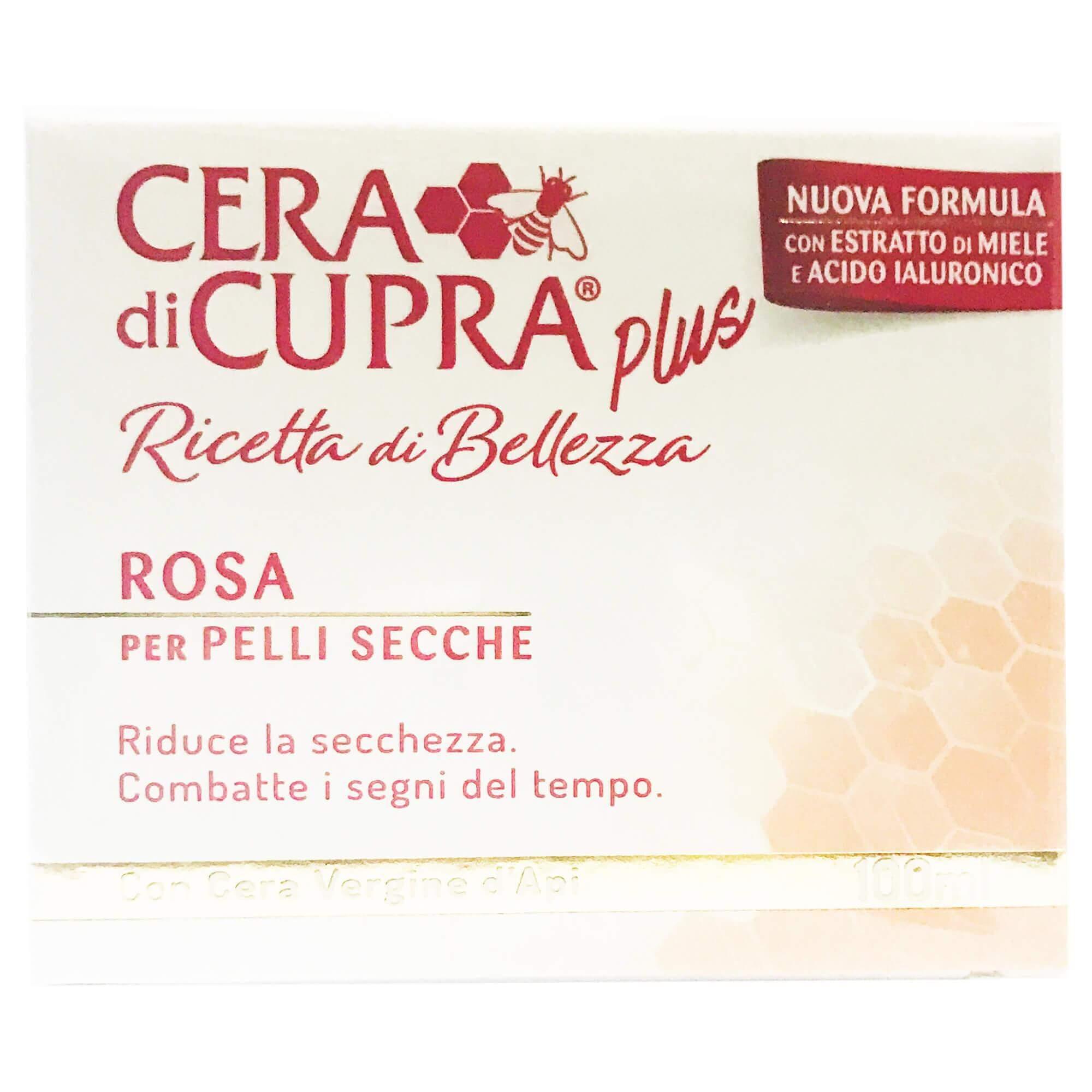 Cera di Cupra Plus Ricetta di Bellezza Rosa Αντιγηραντική, Θρεπτική &Προστατευτική Κρέμαγια Ξηρό Δέρμα100ml