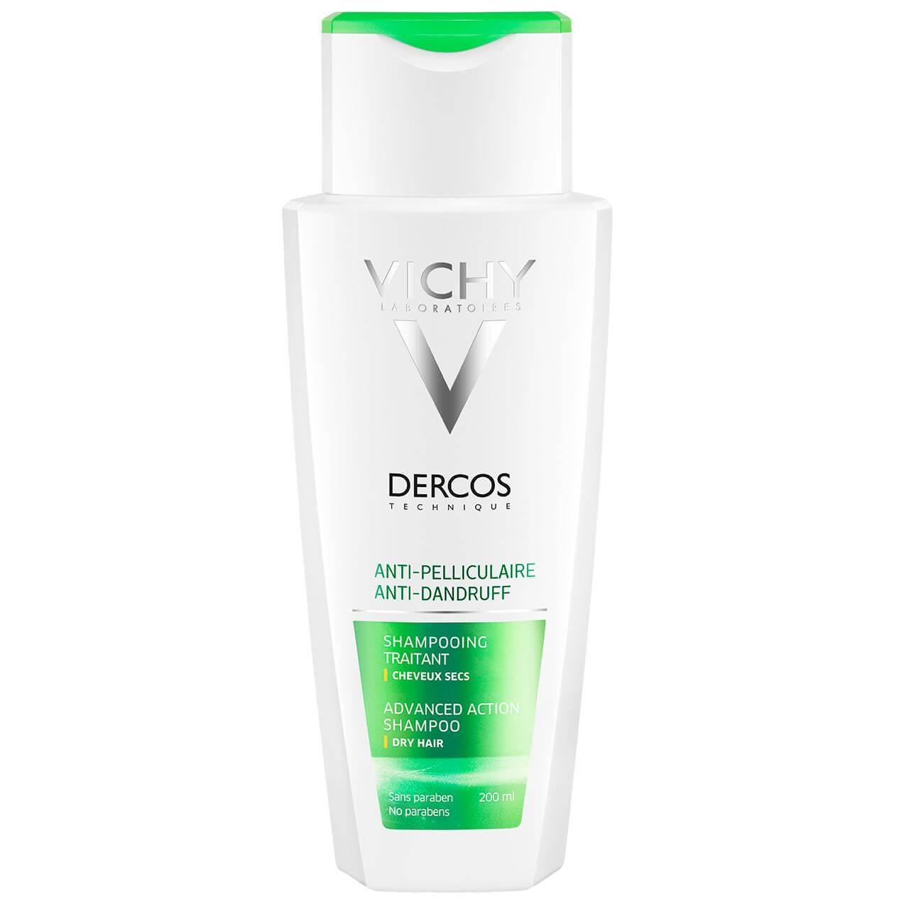 Vichy Dercos Shampoo Αντιπυτιριδικό Σαμπουάν Ξηρά Μαλλιά 200ml