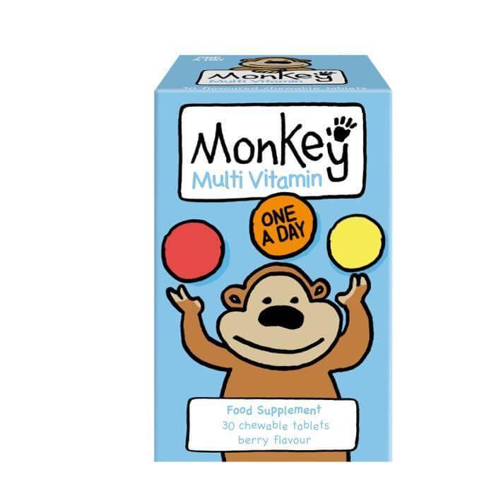 Monkey Wellbeing Multivitamins 30 Μασώμενες Ταμπλέτες