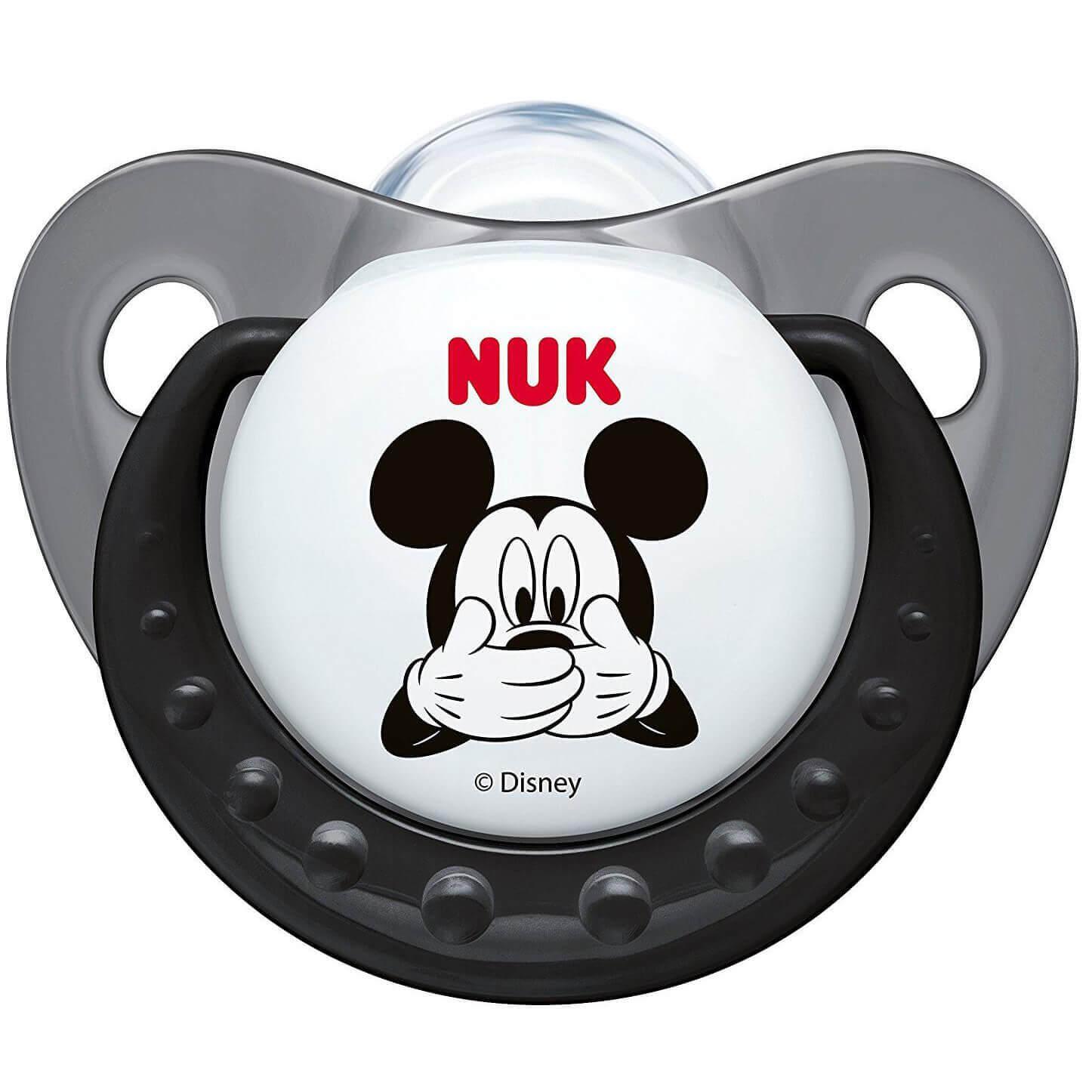 NUK Trendline Disney Mickey Πιπίλα Γκρι Σιλικόνης 6-18m 1 τεμάχιο