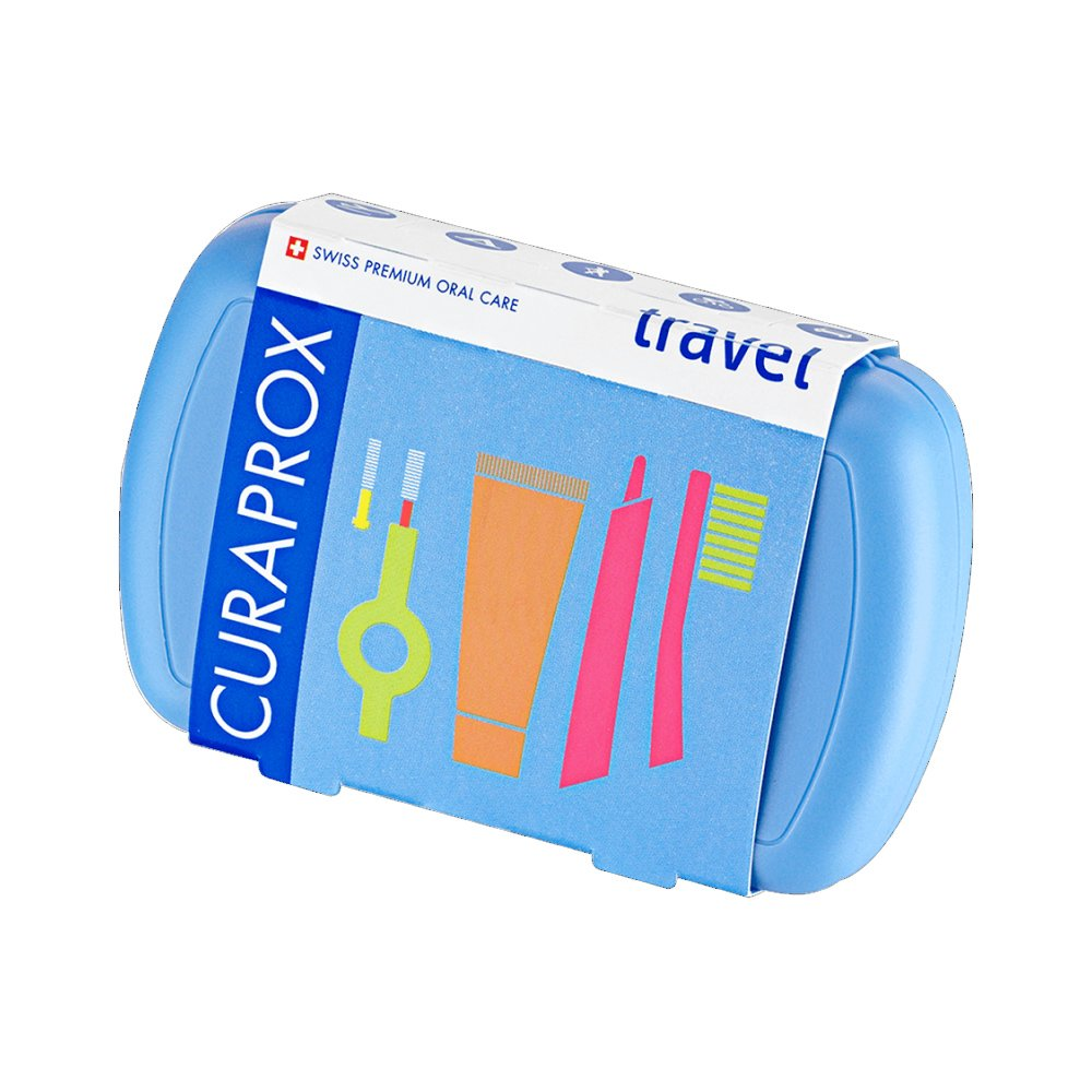 Curaprox Travel Set Blue Σετ Ταξιδίου Στοματικής Φροντίδας σε Γαλάζιο Χρώμα 1 Τεμάχιο