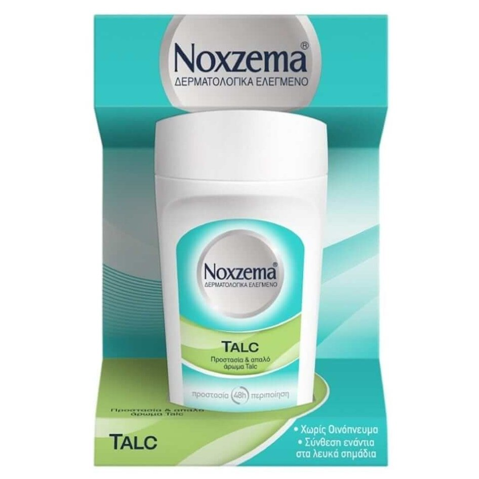 Noxzema Roll On Talc Αντιιδρωτικό Αποσμητικό Φιλικό με το Δέρμα 50ml
