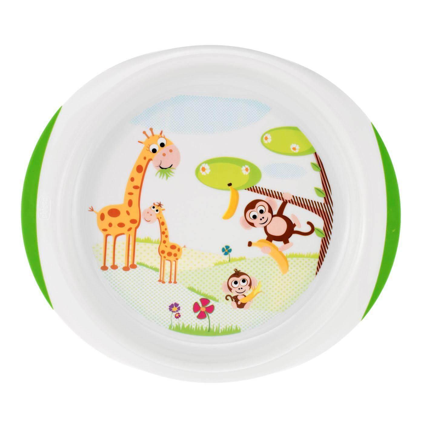 Chicco Σετ Πιάτων Φαγητού 12m+ (2 τμχ , 1 βαθύ και ένα ρηχό)