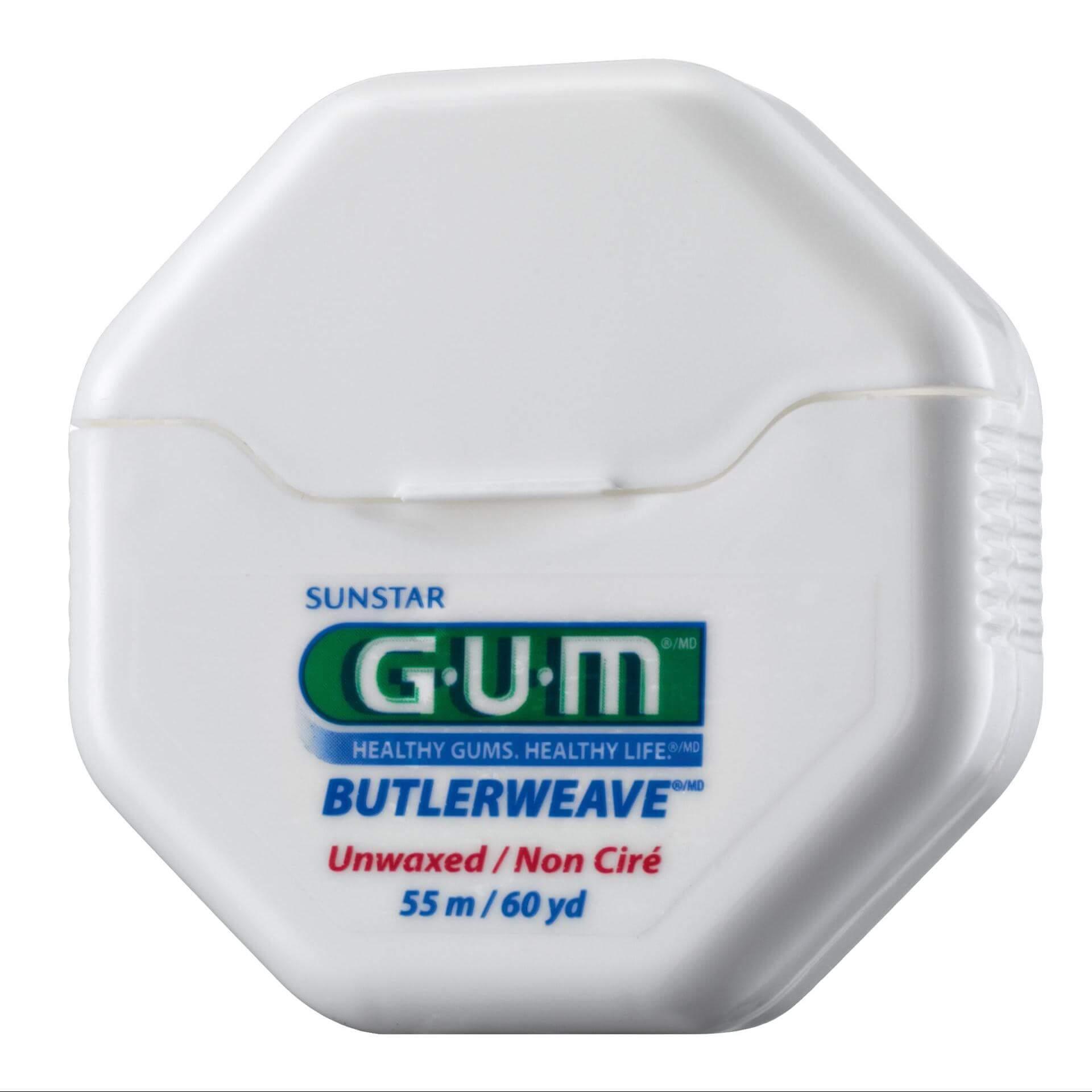 Gum Butlerweave Floss Unwaxed Οδοντικό Νήμα Χωρίς Κερί 55m(1055)