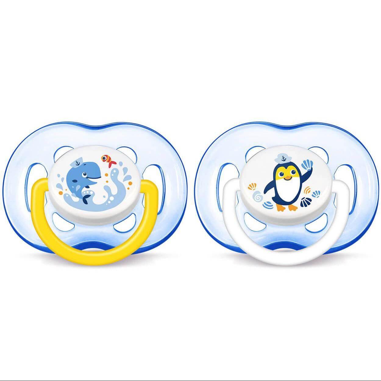 Avent Πιπίλα Σιλικόνης Κλασσική 18m+ Μηνών & Άνω 2 Τεμάχια Μπλε SCF186/24