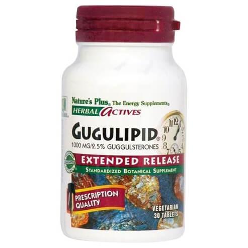 Natures Plus Gugulipid 1000mgΣυμπλήρωμα Διατροφής με Αντιοξειδωτικές Ιδιότητες30 tabs