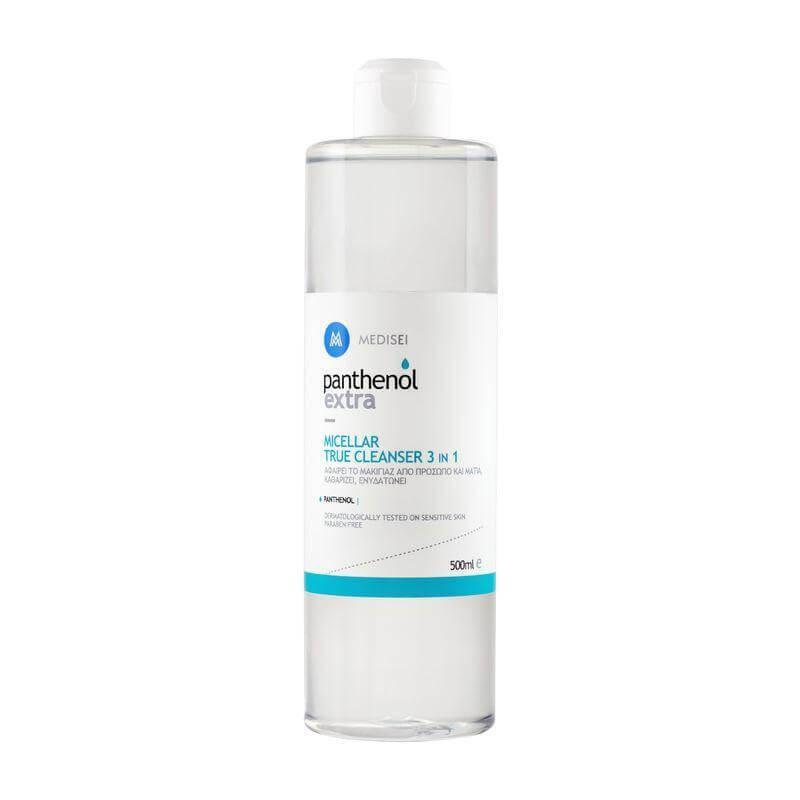 Medisei Panthenol Extra Micellar True Cleanser 3 in 1 Νερό Micellar για τον Καθαρισμό Προσώπου & Ματιών 500ml
