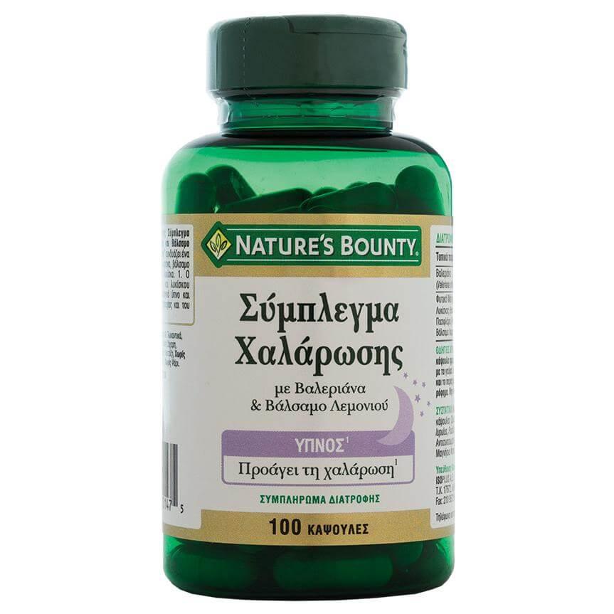 Natures Bounty Σύμπλεγμα Χαλάρωσης Συμπλήρωμα Διατροφήςγια την Χαλάρωση &τον Φυσιολογικό Ύπνο100caps