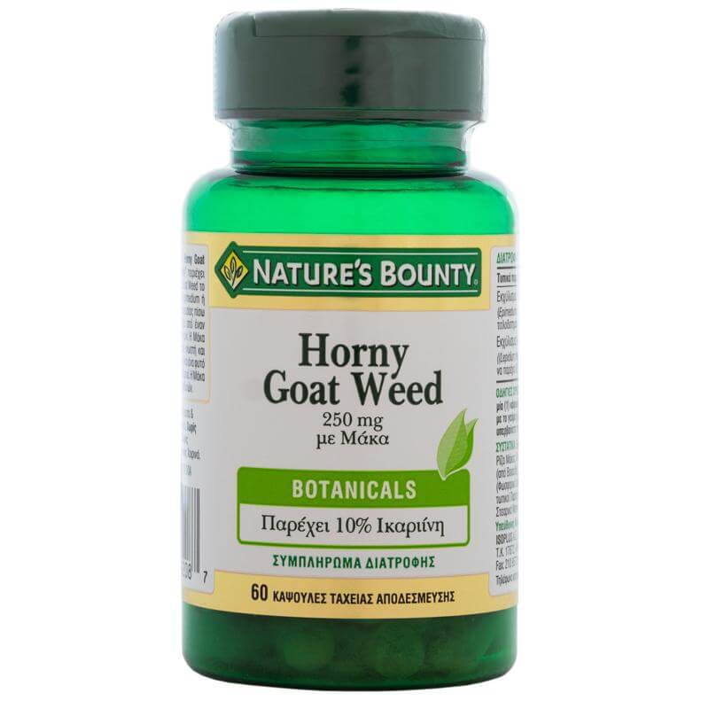 Natures Bounty Horny Goat Weed με Μάκα Συμπλήρωμα Διατροφής για τη Τόνωση της Σεξουαλικής Υγείας 250mg 60caps