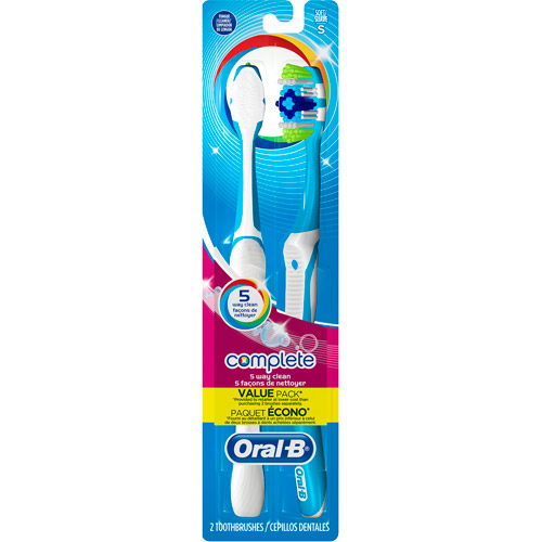 Oral-B Complete 5 Way Clean Οδοντόβουρτσα 40 Μέτρια 1+1 δώρο – Μωβ – Γαλάζιο