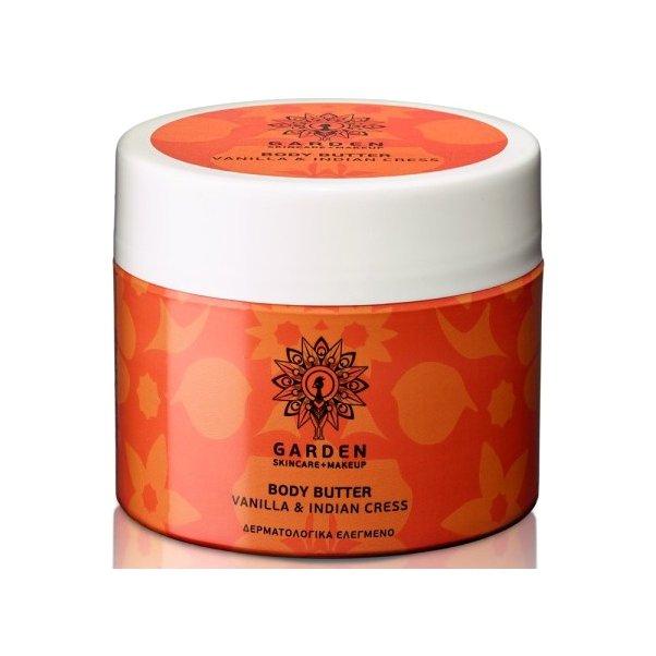 Garden of Panthenols Body Butter Vanilla & Indian Cress Θρεπτικό και Ενυδατικό Βούτυρο Σώματος με Ινδοκάρδαμο 200ml